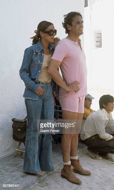 Italian actor Vittorio Gassman with His wife Diletta First July 1972 Aranjuez Madrid Spain