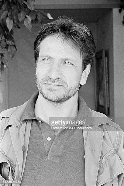 Italian actor Vittorio Mezzogiorno attends the 36th Cannes Film Festival to present the movie L'Homme blessé written and directed by Patrice Chéreau