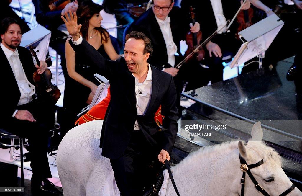 Italian actor-director Roberto Benigni a : News Photo