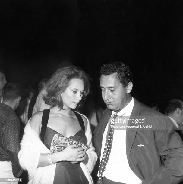 Italian actors Alberto Sordi and Lea Massari acting in the film A Difficult Life. Italy, 1961