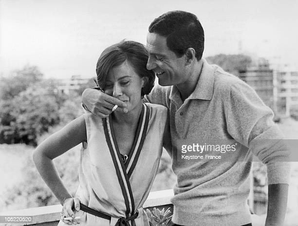Italian Actors Anna Maria Ferrero And Nino Manfredi During The Shooting Of The Film Controsesso In Rome On June 23 1964