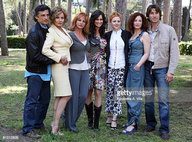 Italian actors Enrico Lo Verso, Eva Grimaldi, Giuliana De Sio, Manuela Arcuri, Valeria Milillo, Simona Borioni and Brando Giorgi attend a photo call...