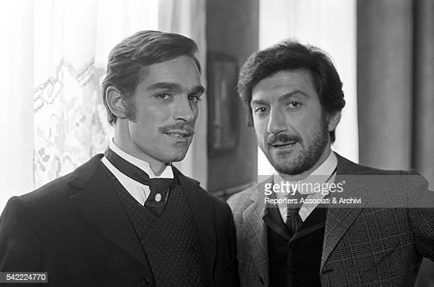 Italian actors Gigi Proietti and Fabio Testi in The Inheritance January 1976