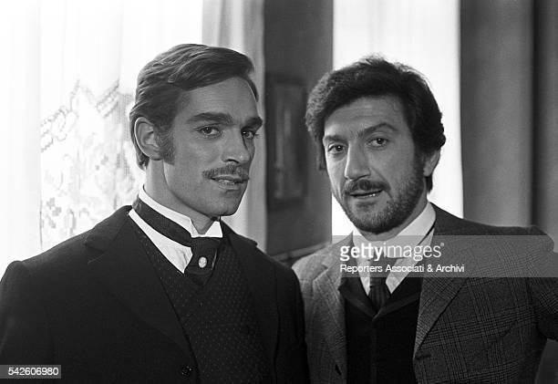 Italian actors Gigi Proietti and Fabio Testi in The Inheritance. 1976