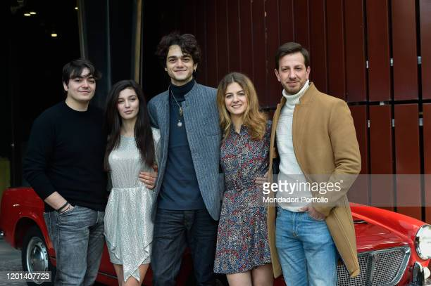 Italian actors Giovanni Amura Gaia Girace Francesco Serpico Margherita Mazzucco and Christian Giroso during the photocall for the presentation of the...