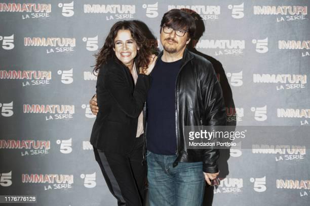 Italian actors Irene Ferri and Ricky Memphis attends the photocall of Mediaset's Immaturi fiction Milan January 11th 2018