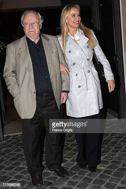 Italian actors Johnny Dorelli and his wife Gloria Guida attend 'Smetti di piangere Penelope' theatre performance premiere at the Ambra Jovinelli...