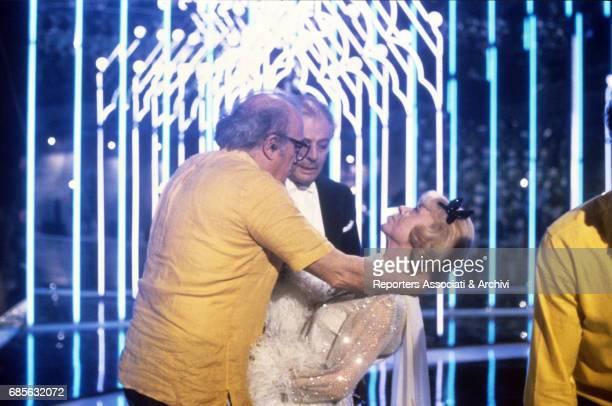 Italian actors Marcello Mastroianni and Giulietta Masina in Ginger and Fred 1985
