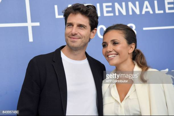 Italian actors Serena Rossi and Giampaolo Morelli attend the photocall of the movie 'Ammore E Malavita' presented in competition at the 74th Venice...