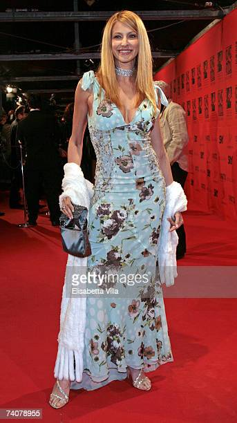 Italian actress Adriana Volpe arrives at the 70 years of Cinecitta Studios Party at Cinecitta May 4 2007 in Rome Italy
