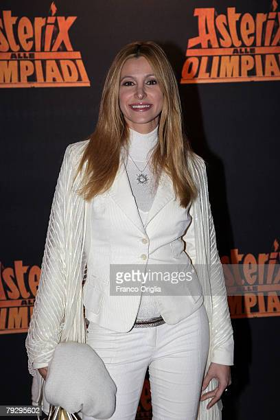 Italian actress Adriana Volpe attends the 'Asterix at the Olympic Games' Italian premiere at the Warner Village Moderno Cinema January 28 in Rome...