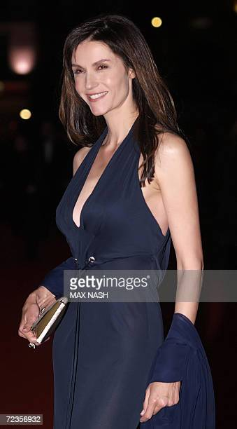 Italian actress Alessandra Martines arrives for the final screening in the London Film Festival of the film, Babel, in London's Leicester Square, 02...