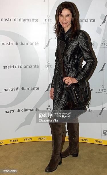 Italian actress Alessandra Martines arrives to the Fendi party 'Nastri di Diamante' at the Palazzo Fendi on November14 2006 in Rome Italy