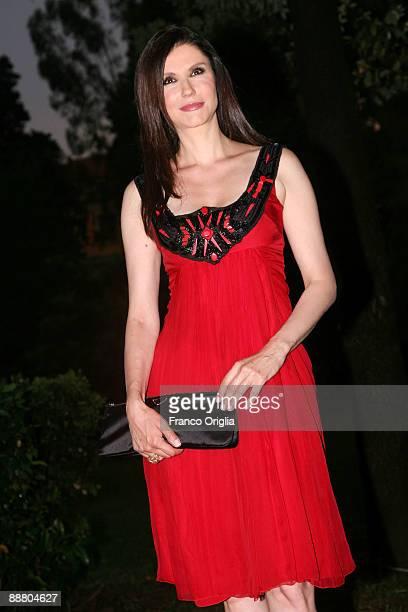 Italian actress Alessandra Martinez attends the Globi D'Oro Awards at the German Acadamy of Villa Massimo on July 2 2009 in Rome Italy