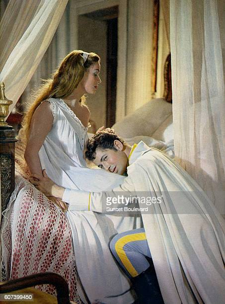 Italian actress Alida Valli and American actor Farley Granger on the set of Senso written and directed by Luchino Visconti