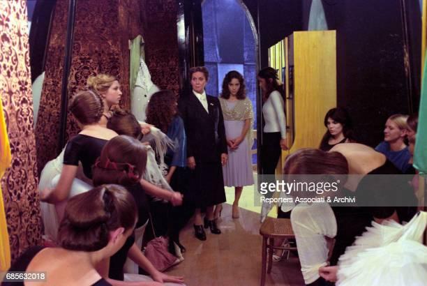 Italian actress Alida Valli and American actress Jessica Harper in the ballet academy in 'Suspiria' 1977