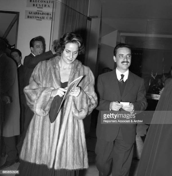 Italian actress Alida Valli at Teatro Quirino for the premiere of the Otello Rome 2nd November 1956