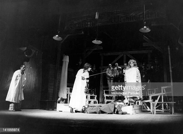 Italian actress Alida Valli performing Alberto Moravia's tragedy 'Il Dio Kurt', directed by Antonio Calenda, at Teatro Stabile dell'Aquila. L'Aquila,...