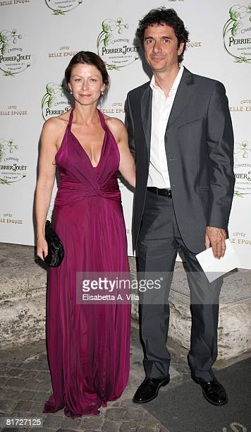Italian actress Amanda Sandrelli and her husband Blas Roca Rey attend the Beauty Of Senses event held at the Hotel St George on June 26 2008 in Rome...