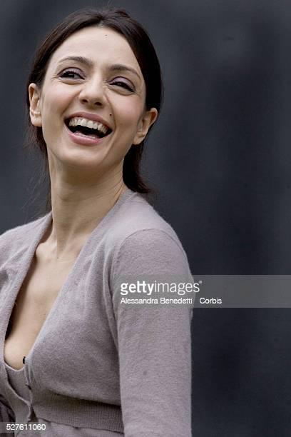 "Italian actress Ambra Angiolini at the photo call of ""Bianco e Nero"" in Rome."