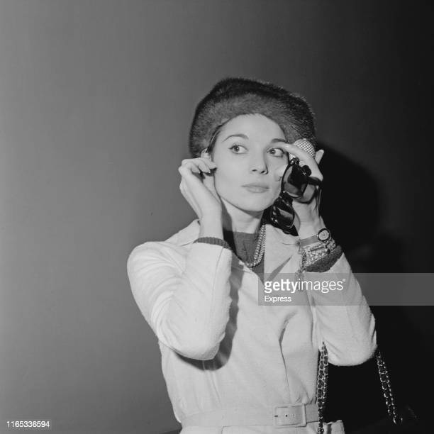 Italian actress and fashion model Elsa Martinelli at Heathrow Airport London UK 24th March 1965