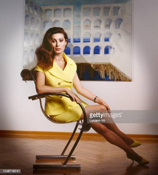 Italian actress and film producer Edwige Fenech portrait Rome circa 1990