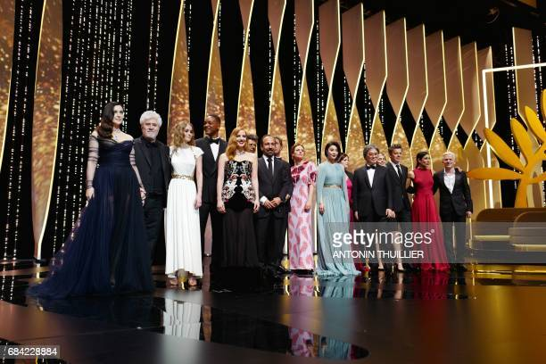 TOPSHOT Italian actress and master of ceremonies Monica Belluccion Spanish director and President of the Feature Film Jury Pedro Almodovar FrenchUS...