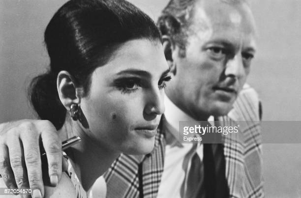 Italian actress and model Benedetta Barzini with British fashion photographer John Cowan UK 15th August 1967