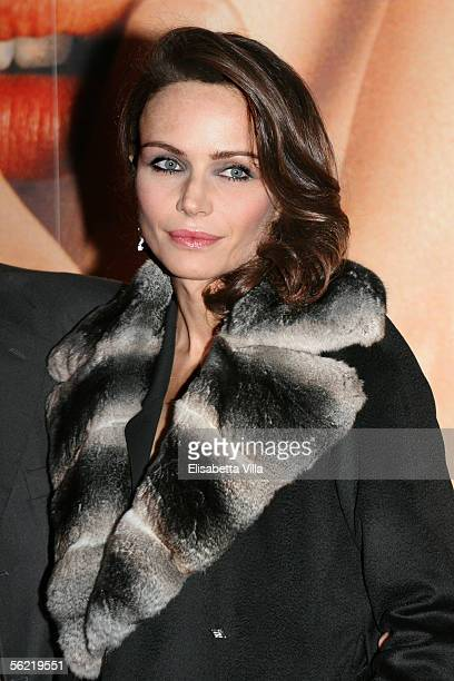 Italian actress and producer Francesca Neri attends the Italian premiere for the new film 'Melissa P' at the Cinema Warner Moderno on November 17...