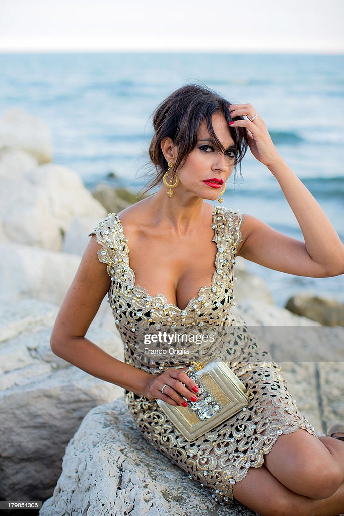 Maria Grazia Cucinotta Portrait Session - The 70th Venice International Film Festival