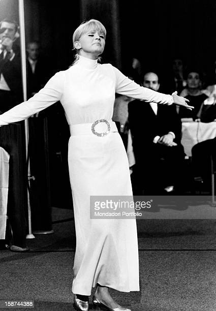 Italian actress and singer Carmen Villani taking part in the 5th musical show Festivalbar Asiago September 1968