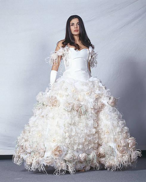 Mietta Wearing A Wedding Dress