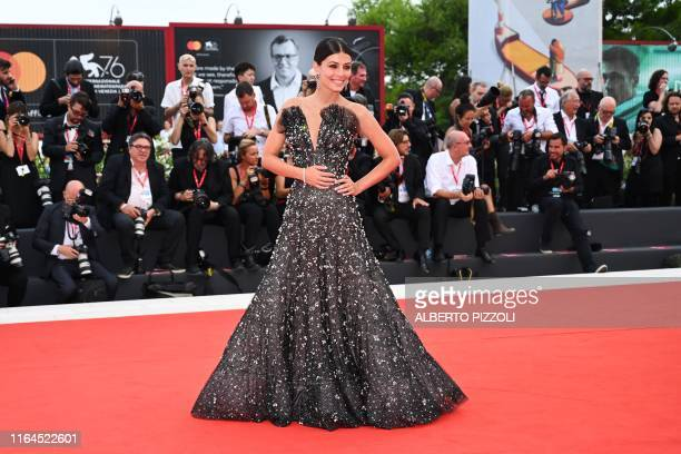 Italian actress and sponsor of the Festival Alessandra Mastronardi poses as she arrives for the opening ceremony and the screening of the film La...