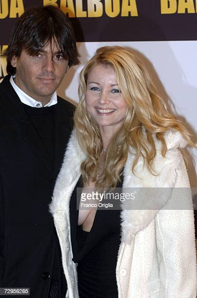 Italian actress Angela Melillo and her husband attend the 'Rocky Balboa' premiere at the Auditorium Conciliazione on January 9 2007 in Rome Italy