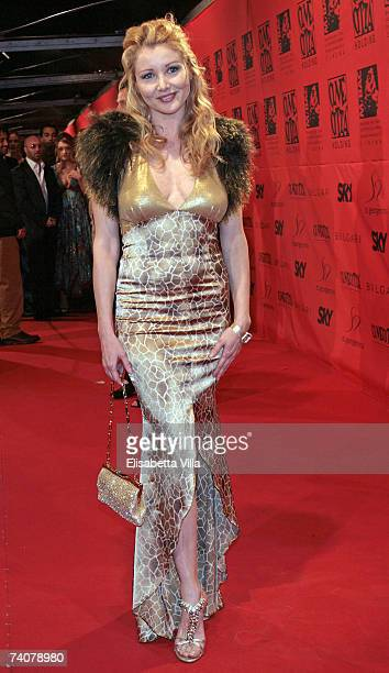 Italian actress Angela Melillo arrives at the 70 years of Cinecitta Studios Party at Cinecitta May 4 2007 in Rome Italy