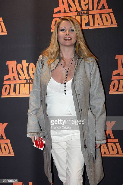 Italian actress Angela Melillo attends the 'Asterix at the Olympic Games' Italian premiere at the Warner Village Moderno Cinema January 28 in Rome...
