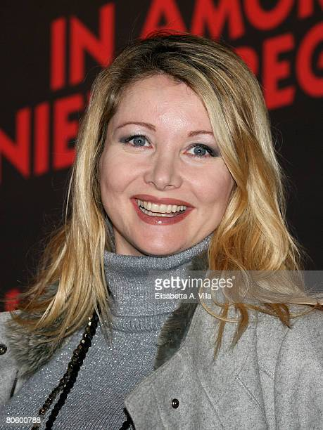 Italian actress Angela Melillo attends the 'Leatherheads' premiere at the Warner Cinema Moderno on April 10 2008 in Rome Italy