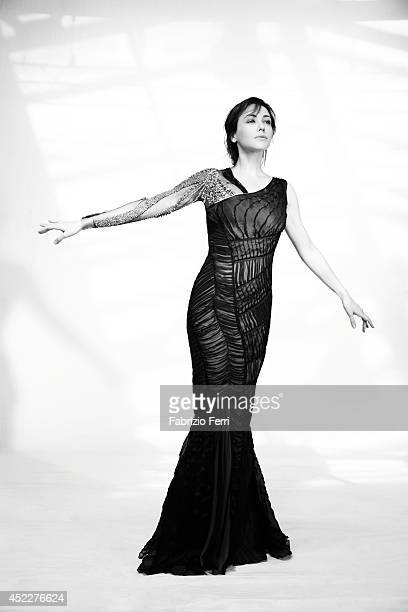 Italian actress Anita Caprioli is photographed in October 2010 in Milan Italy