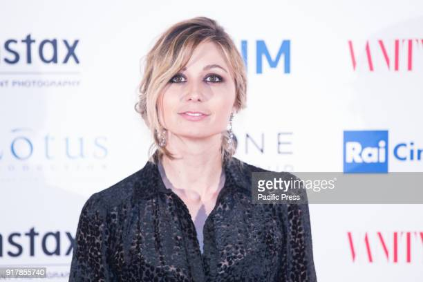 Italian actress Anna Ferzetti during the Red Carpet of the Italian film A Casa Tutti Bene directed by Gabriele Muccino at The Space Cinema Moderno