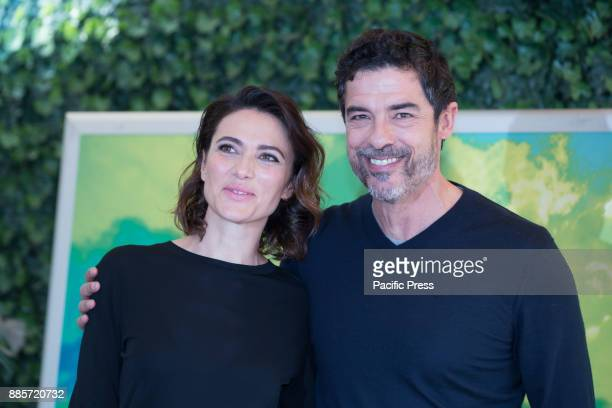 Italian actress Anna Foglietta and italian actor and director Alessandro Gassmann during the Photocall of the Italian movie 'Il Premio' at the Hotel...