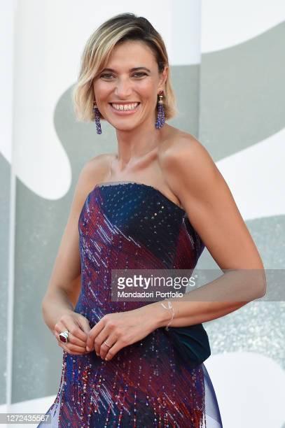 Italian actress Anna Foglietta at the 77 Venice International Film Festival 2020 Closing ceremony red carpet Venice September 12th 2020