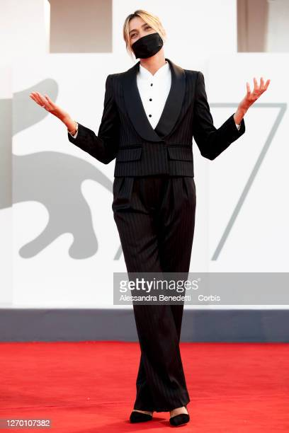 Italian actress Anna Foglietta attends the photocall of the Patroness of the 77th Venice Film Festival on September 01 2020 in Venice Italy