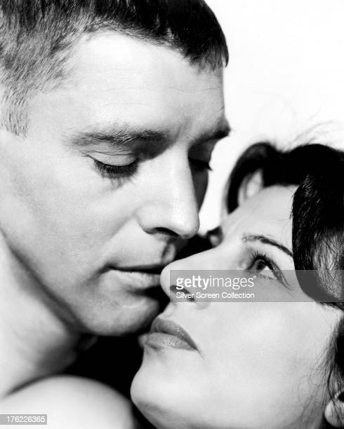 Italian actress Anna Magnani and American actor Burt Lancaster in a promotional portrait for 'The Rose Tattoo'directed by Daniel Mann 1955