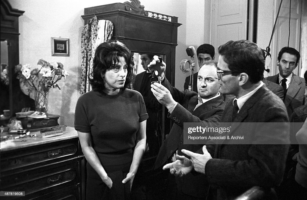 Anna Magnani and Pier Paolo Pasolini on the set of Mamma Roma