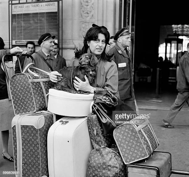 Italian actress Anna Magnani in Paris France circa 1960
