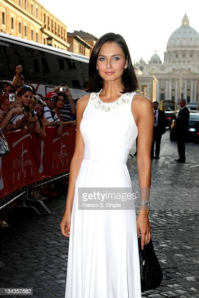 Italian actress Anna Safroncik attends Roma Fiction Fest 2008 Closing Ceremony and Diamond Awards on July 12 2008 in Rome Italy