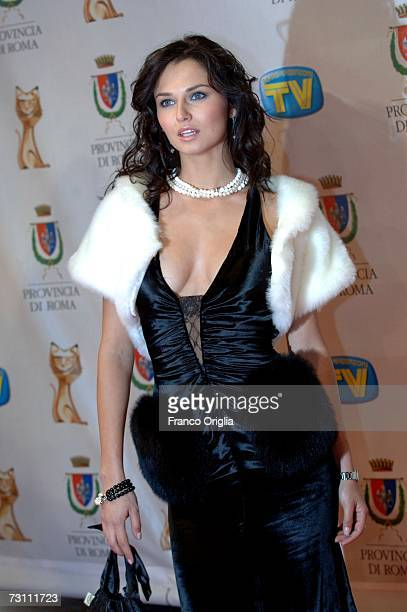 Italian actress Anna Safronic attends the Italian Tv Awards ''Telegatti'' at the Auditorium Conciliazione on January 25 2007 in Rome Italy