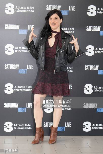 Italian actress Annagaia Marchioro at Saturday Night Live tv show photocall. Milano, April 6th 2018