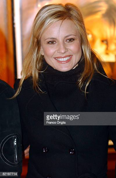 Italian actress Antonella Elia attends the premiere of new movie 'The Heart Is Deceitful Above All Things' at the Embassy Cinema on February 14 2005...