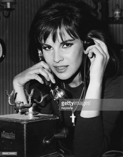 Italian actress Antonella Lualdi in a scene from the film 'Le repas des fauves' being filmed at the SaintMaurice studios in France 1964 The film is...